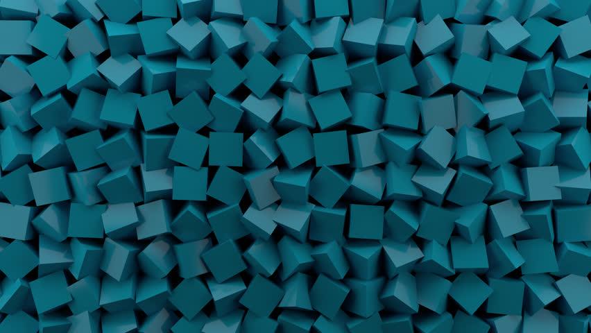 Cubic 010: Blue cubes rotate (Loop). #29700379