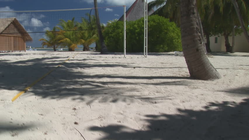 beach volleyball court in the tropics high definition video