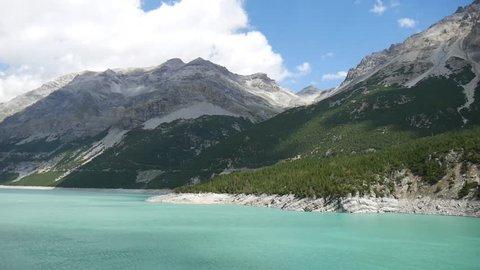 a view of the lake Cancano, Valtellina, Lombardy, Italy.