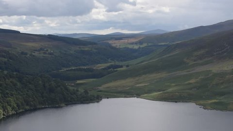 Lough Tay in Wicklow Mountains, Ireland View on the lake in Wicklow Mountains