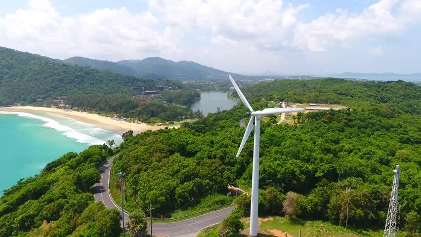 Wind mill with deep blue sea  | Shutterstock HD Video #29723647