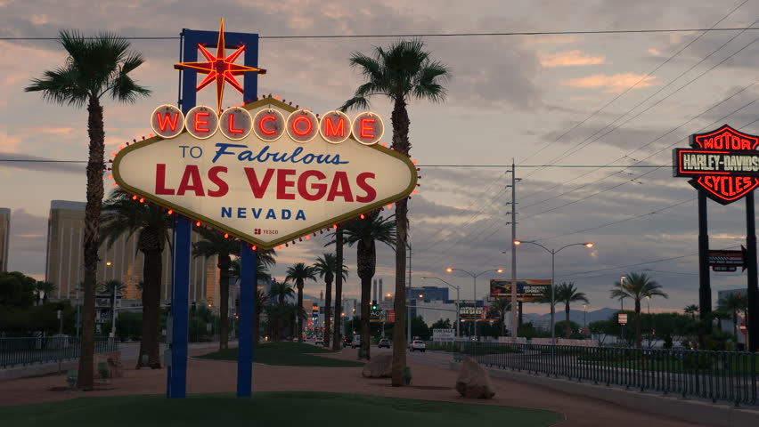 "PARADISE, NV - AUGUST 4:  The iconic ""Welcome to Fabulous Las Vegas"" neon sign greets visitors to Las Vegas traveling north on the Las Vegas strip on August 4, 2017 in Paradise."