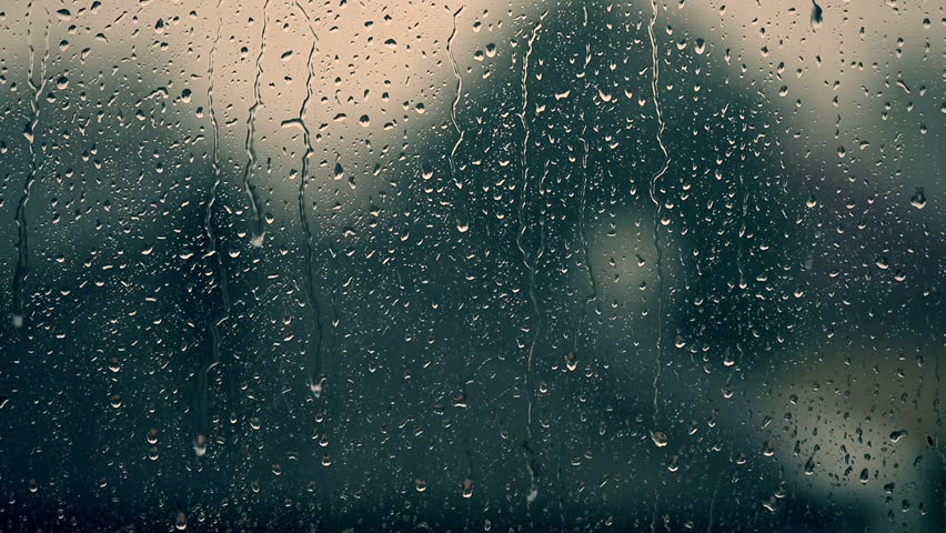 rain days, heavy rain falling on window surface  #29741101