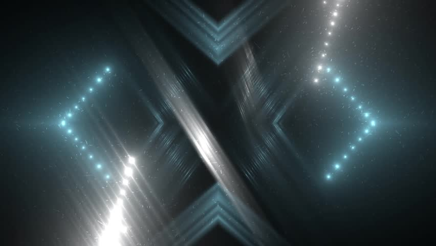 Fractal blue and grey abstract background. Movement of colored rays with disco spectrum lights on black background. Light Tunnel. VJ Footage seamless loop. For background fashion show   Shutterstock HD Video #29755141
