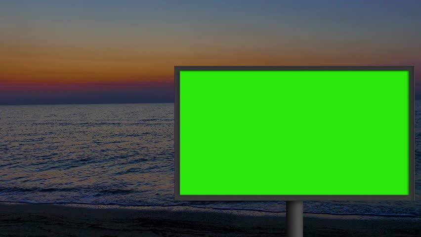 Billboard with a green screen | Shutterstock HD Video #29771020