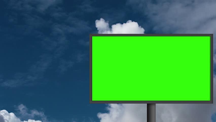 Billboard with a green screen | Shutterstock HD Video #29771023