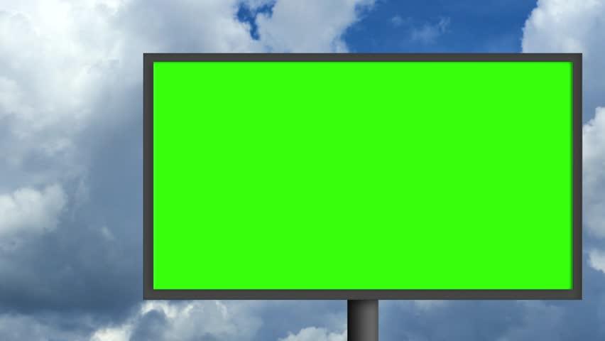Billboard with a green screen | Shutterstock HD Video #29771035