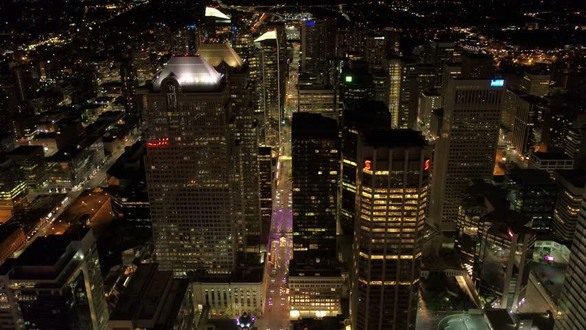 Aerial Canada Calgary June 2017 Night 4K Inspire 2 ProRes | Shutterstock HD Video #29781847