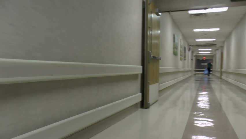 Walk through clean, shiny, well maintained hospital hallways. 1080p | Shutterstock HD Video #2978431