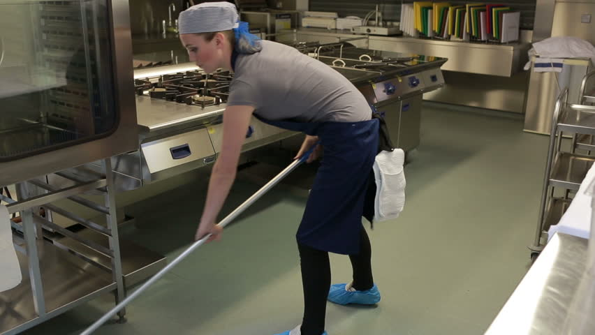 Mopping Kitchen Floor - Kitchen Appliances Tips And Review
