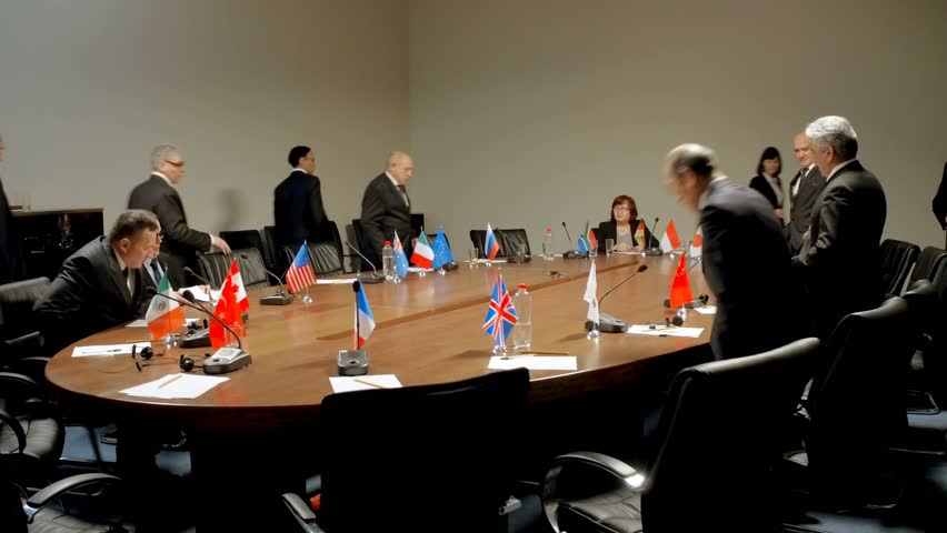 International Conference Stock Footage, Round Table Confrence