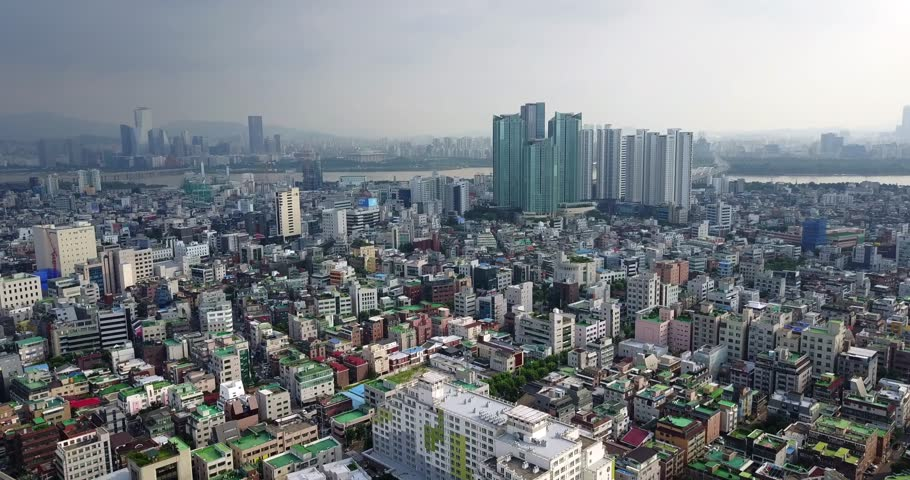 Aerial Near Hongdae, Seoul, South Korea | Shutterstock HD Video #29811001