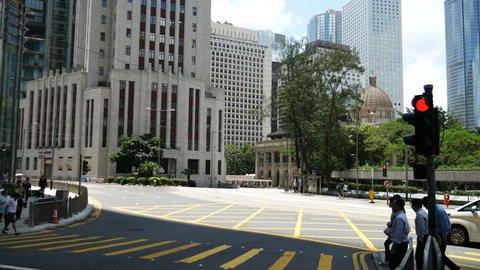 Hong Kong, Hong Kong S.A.R-June 8, 2017: traffic in Hong Kong