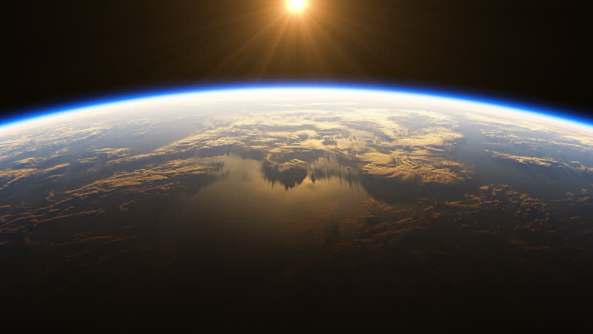 4K. Amazing Sunrise Over The Earth. View Of Planet Earth From Space. Ultra High Definition. 3840x2160. Realistic 3d Animation. (You Can Speed Up This Animation For Your Projects). #29871259