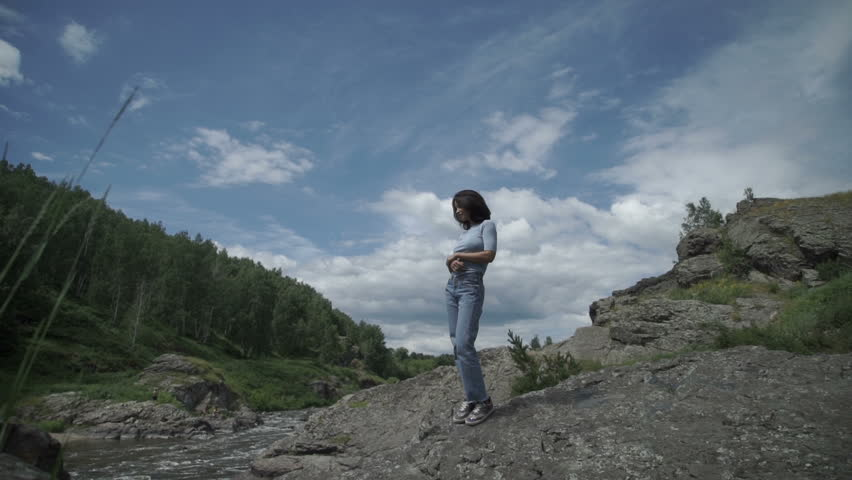 Beautiful woman posing on nature | Shutterstock HD Video #29872471