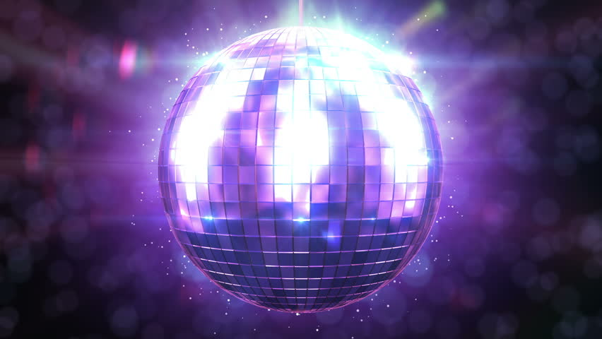 Beautiful Disco Ball Spinning seamless with flares. Loop-able isolated Mirrorball. HD 1080.