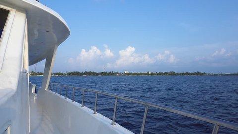 Vacations on luxury yacht. Travel around the world