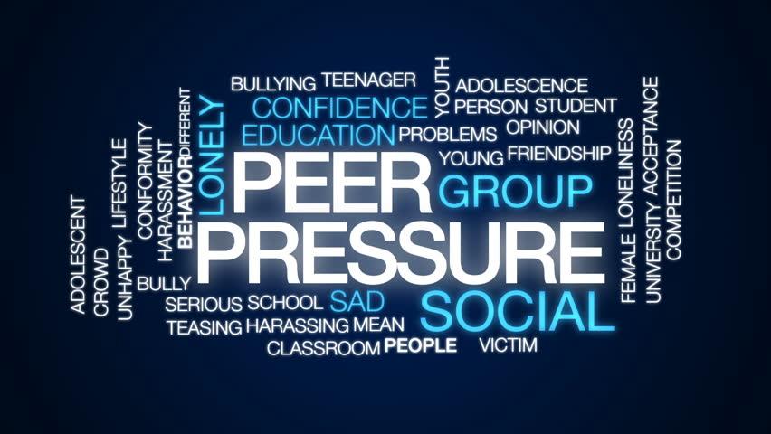 Peer Pressure Animated Word Cloud, Stock Footage Video (100 ...