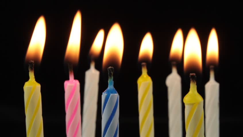 Burning Birthday Candles Stock Footage Video 100 Royalty Free 2993941 Shutterstock
