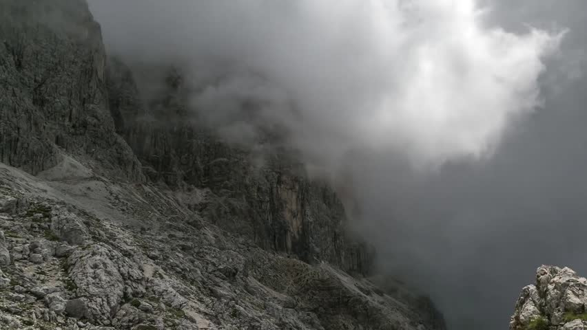 Dolomite time lapse - clouds on Passo delle Coronelle | Shutterstock HD Video #29944237
