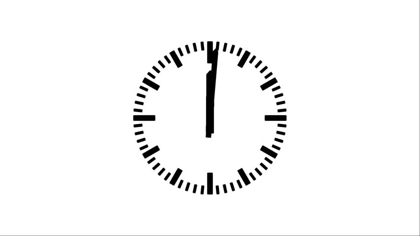 Motion background with spinning clock in 12 hour seamless loop. (30s/30fps) | Shutterstock HD Video #2994487