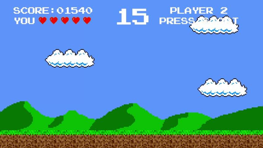 Retro Video Game Platform Level | Shutterstock HD Video #29971072