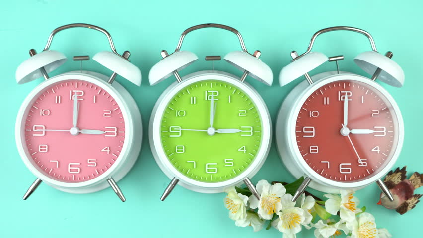 Turning the clocks forward one hour for Springtime Daylight Savings Time, time lapse.  | Shutterstock HD Video #29976715