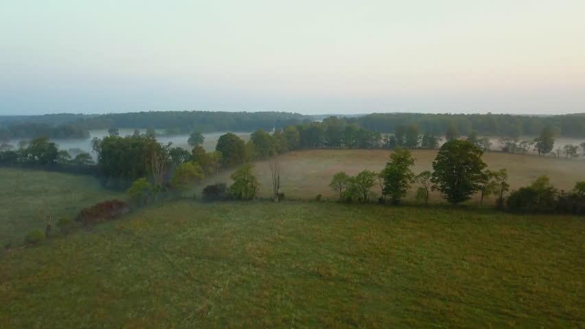 Aerial drone shot of farm fields | Shutterstock HD Video #29992876