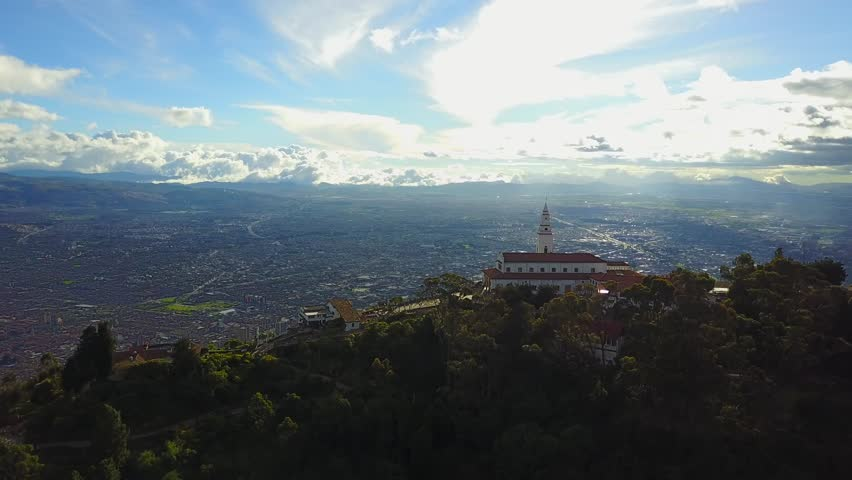 Aerial Footage of Bogota Church in Colombia  | Shutterstock HD Video #29995864