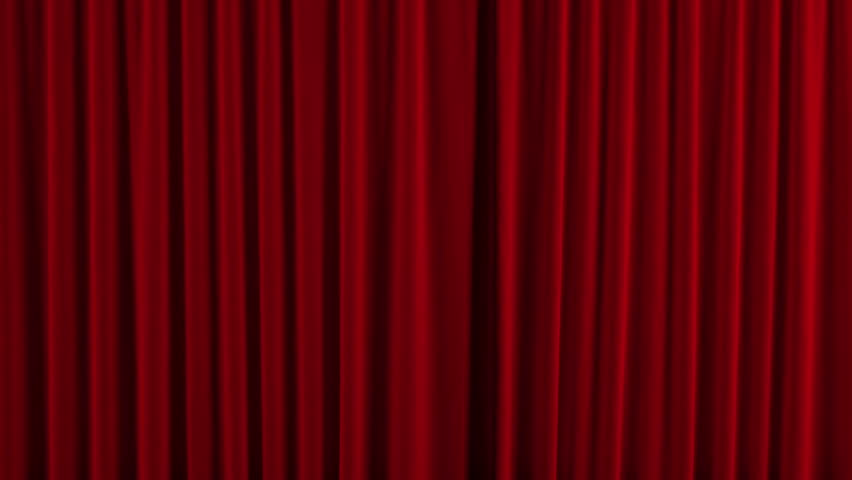 Red theater curtain. High quality computer animation. | Shutterstock HD Video #2999608