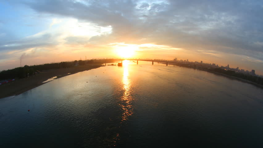 Sunset at the river. Time lapse. | Shutterstock HD Video #3002068