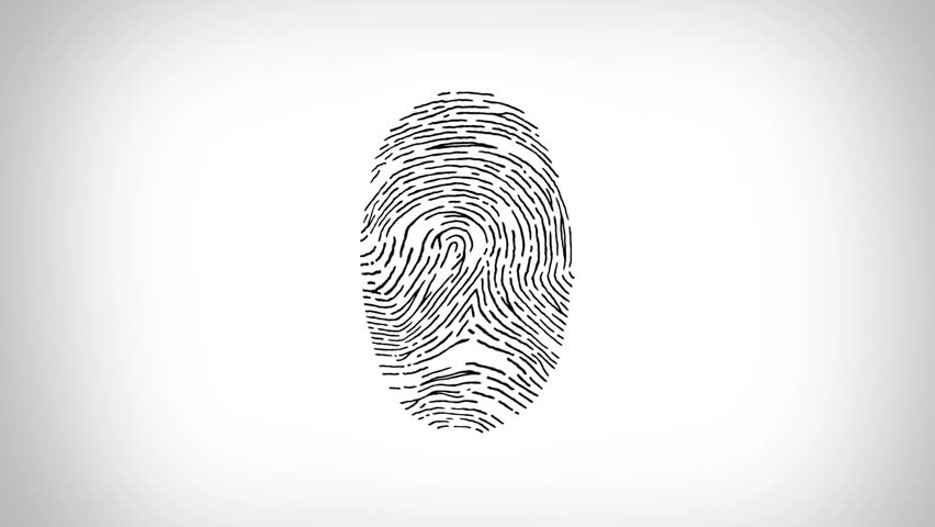 Ten human fingerprints, including the basic patterns: arch, loop and whorl. Biometric search and authentication. Security technology. Black and White. | Shutterstock HD Video #30026578