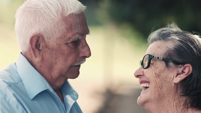 Elderly couple looking at each other - Happy senior couple  | Shutterstock HD Video #30029320