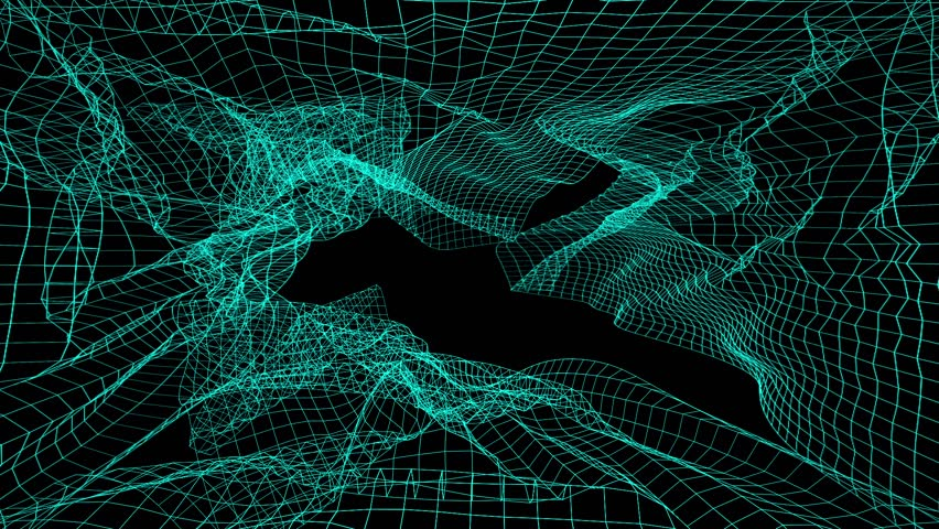 MOTION GRAPHIC: Animation of rotation abstract lines linking network. Abstract background, animation of seamless loop. | Shutterstock HD Video #30032194