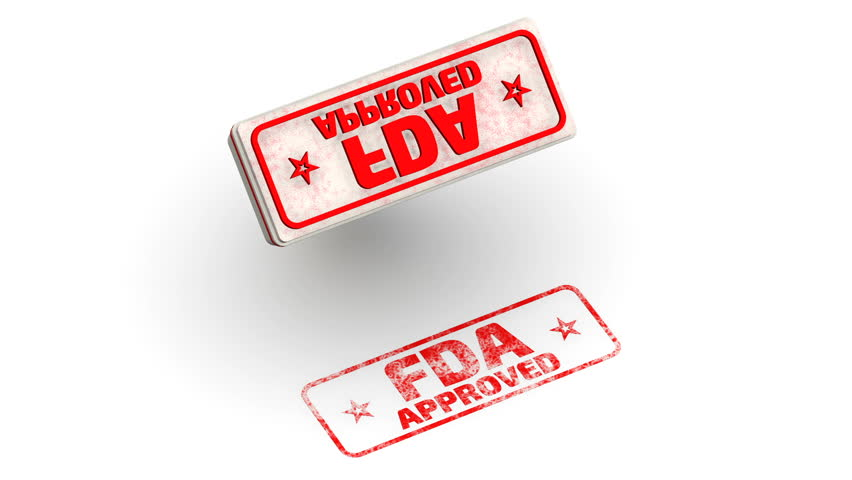 FDA approved. Stamp leaves a imprint. Red seal and imprint