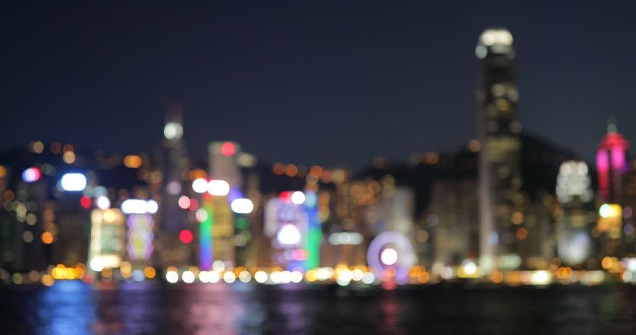 Out of focus in Hong Kong city    Shutterstock HD Video #30090445