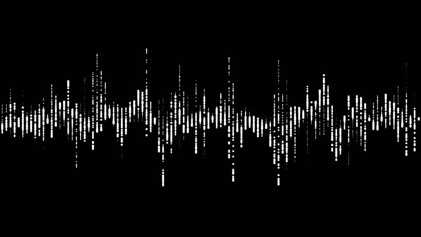 Digital waveform equalizer HUD in black background. Technological abstract element of a futuristic interface #30108571