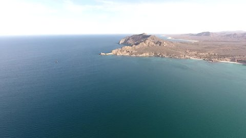 Aerial views from the beach and reef of Cabo Pulmo, Mexico.