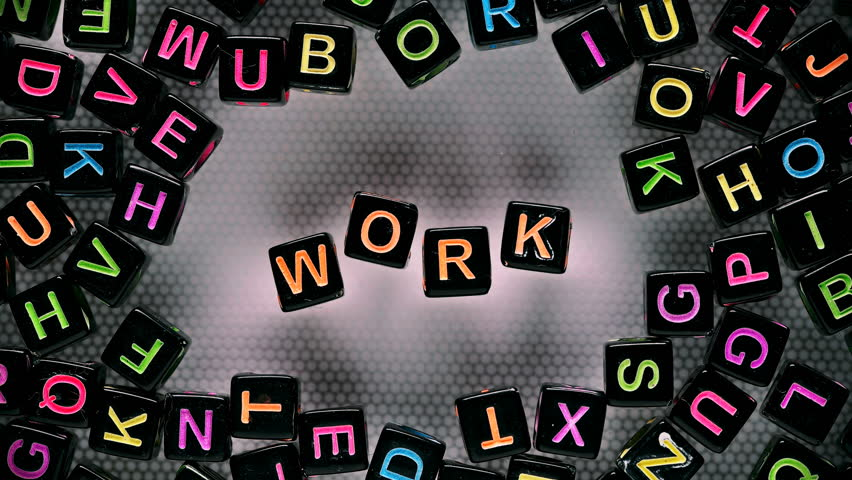 Cubes with letters collected word - work | Shutterstock HD Video #30115228