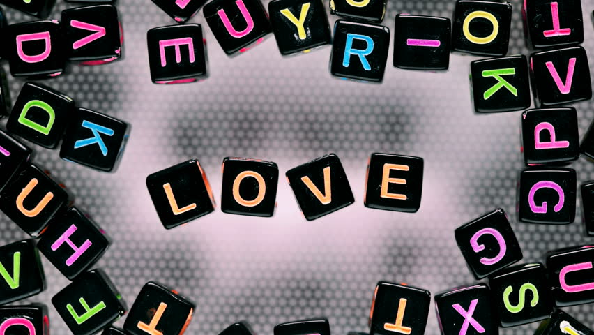Cubes with letters collected word-love | Shutterstock HD Video #30115255