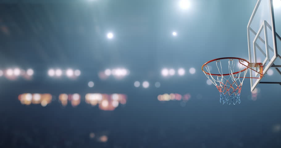 Basketball player makes a slam dunk during a game. He wears unbranded sport clothes.   Shutterstock HD Video #30128875
