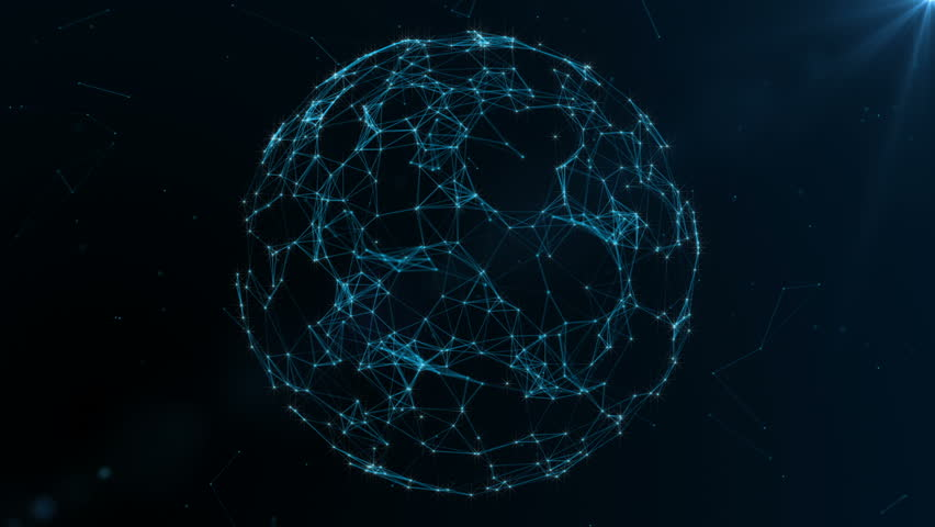 Earth globe rotating with plexus. Global digital connections. Network and exchange of data on the planet Earth   Shutterstock HD Video #30129688