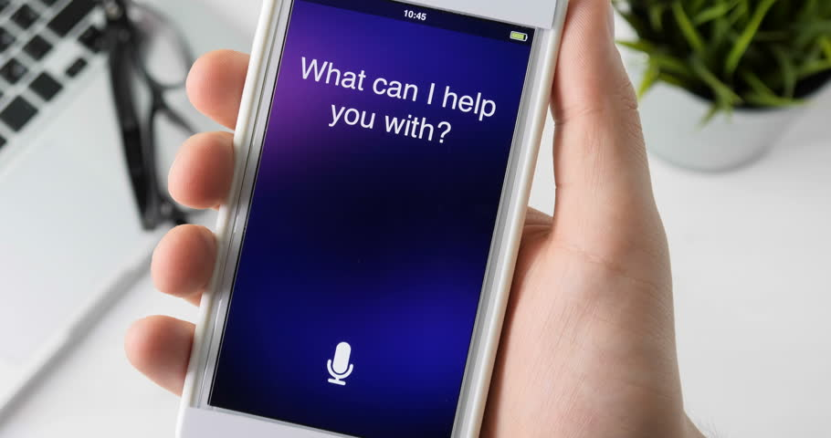Using intelligent personal assistant on smartphone | Shutterstock HD Video #30137101