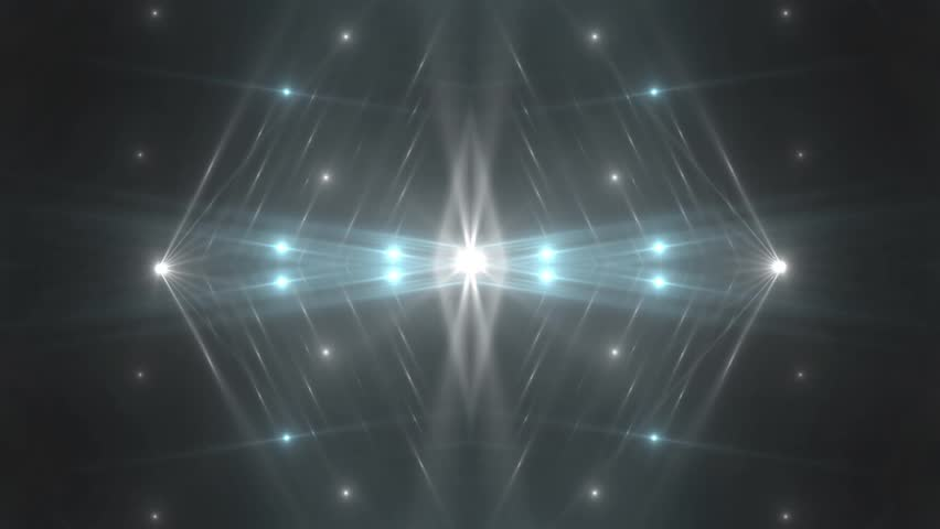 Fractal blue and grey abstract background. Movement of colored rays with disco spectrum lights on black background. Light Tunnel. VJ Footage seamless loop.  #30148750