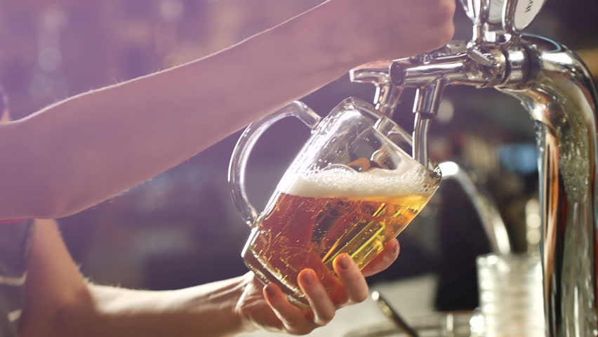 Craft beer poured into a glass. Royalty-Free Stock Footage #30155653
