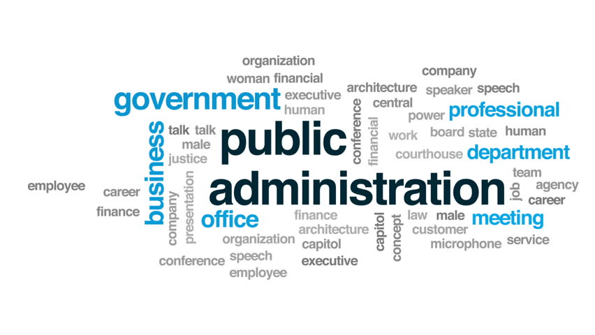 Public Administration Animated Word Cloud, Stock Footage Video ...