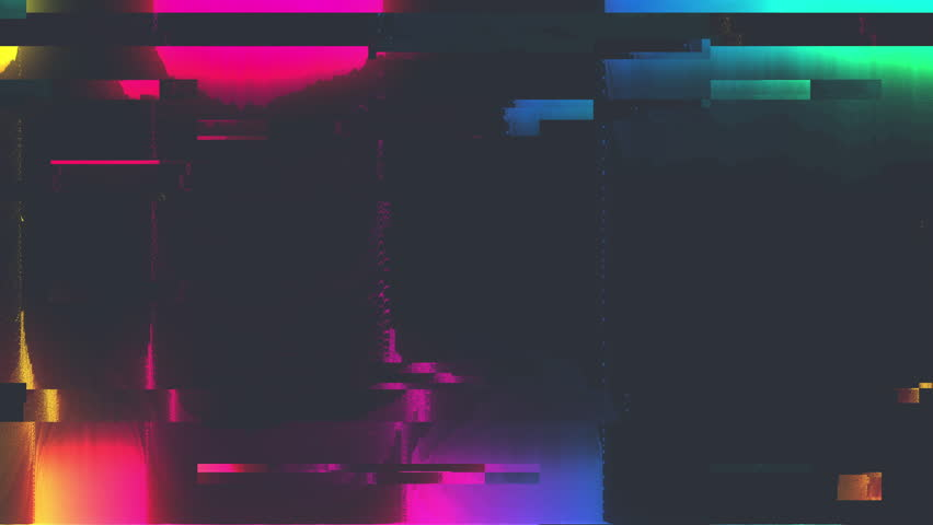 Abstract Digital Animation Pixel Noise Glitch Error Video Damage