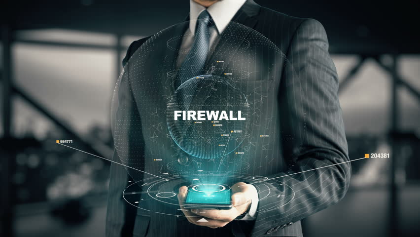 Businessman with Firewall | Shutterstock HD Video #30170305