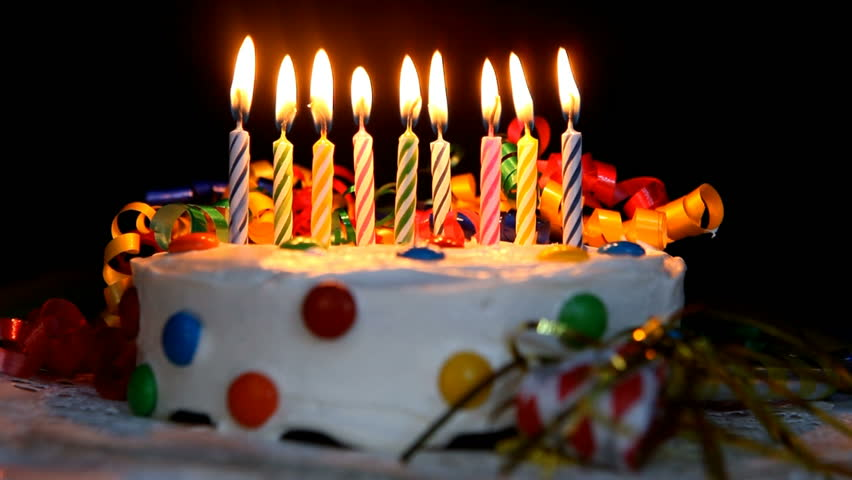 Excellent Time Lapse Burning Birthday Cake Candles No Sound In File Funny Birthday Cards Online Hendilapandamsfinfo