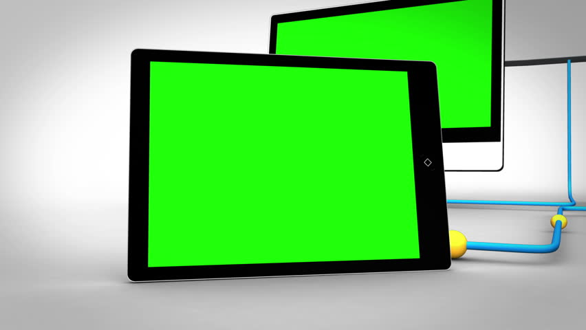 Animation with clouds connecting to multiple devices in chroma key | Shutterstock HD Video #3019372